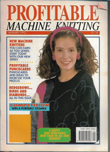 Profitable Machine Knitting Jan 1992 Magazine UK Patterns Articles to Ma... - $4.27