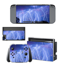 Lightning sky  decal for Nintendo switch console sticker skin - $15.00
