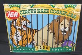 1999 IGA Circus Daze Special Edition Cookie Jar - Tiger & Lion NEW - $33.96