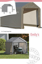 6 x 6 Ft Portable Garden Storage Shed In A Box Peak Canopy Outdoor Store... - $184.99