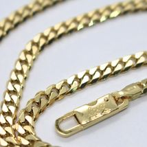 MASSIVE 18K GOLD GOURMETTE CUBAN CURB CHAIN 3.5 MM 20 IN. NECKLACE MADE IN ITALY image 4