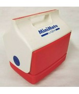 Igloo Mini Mate Red White Personal Cooler Lunchbox Vintage Blue Letters ... - $14.80