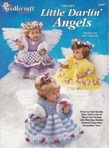 Little Darlin' Angels Crochet Booties Ruffled Dresses Syndee Dolls Panti... - $6.92