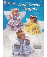 Little Darlin' Angels Crochet Booties Ruffled Dresses Syndee Dolls Panti... - $6.92