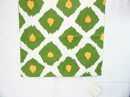 Pottery Barn Ikat Printed Yellow Green 20-inch Square Pillow Cover - $39.00
