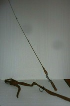 "Antique Gep Rod Actionized Metal Fishing Rod with Canvas Case 54"" - $29.02"