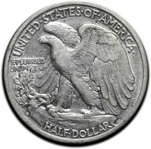 1933S Walking Liberty Half Dollar 90% Silver Coin Lot# A 575 image 2