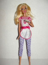Barbie as DESSERT CHEF Doll  I can Be series Lever on back Arm MOVES Rare - $4.99