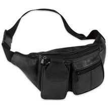 Embassy Solid Genuine Lambskin Leather 6-Pocket Waist Bag - $15.73 CAD