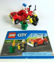 LEGO 30347 Set City Firefighter Minifig with Fire Car 100% Complete - $5.38