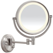 CONAIR BE6BLED Reflections LED Brushed-Nickel Wall-Mount Mirror - $124.68