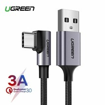 Ugreen Nylon USB C Cable 90 Degree Fast Charger USB Type C Cable for Xia... - $8.96