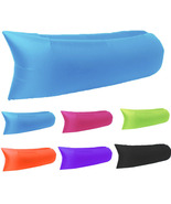 Inflatable Lounger Air Sofa Hammock Portable Beach Chair Pouch Couch Bed - £14.43 GBP