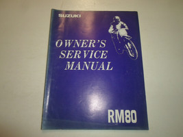 1993 Suzuki RM80 Owners Service Manual Stained Worn Factory Oem Book 93 Deal - $18.97