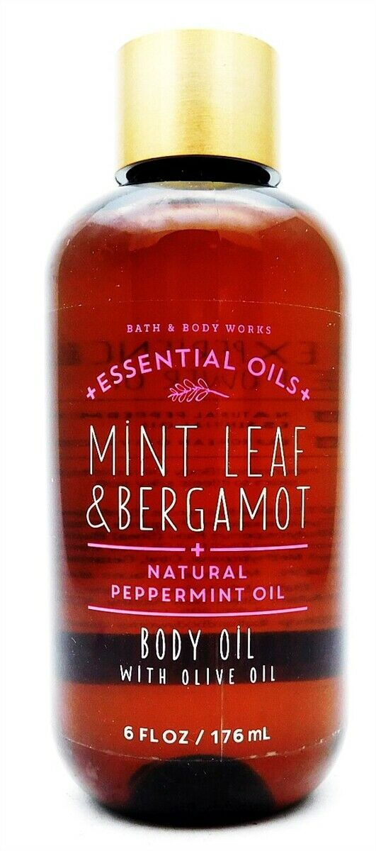 Bath & Body Works Essential Oils Mint Leaf & Bergamot Body Oil with Olive Oil 6