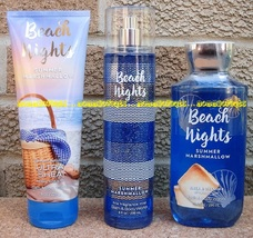 Beach Nights Marshmallow Bath Body Works Fragrance Mist Body Cream Showe... - $36.00
