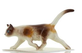 Hagen Renaker Miniature Cat Calico Prowling Ceramic Figurine image 3