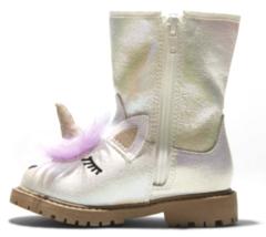 Cat & Jack Toddler Girls Hillary Natural White Glitter Unicorn Fashion Boots NEW image 2