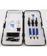 Blue New York Rangers Standard Sure Grip Soft Tip Dart Set + Case 16 gra... - $23.93