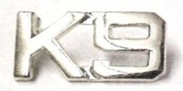 K-9 Canine Unit Silver Set of 2 Cut Out Letters Police Collar Pin Set Gold 2413N image 2
