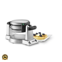Belgian Waffle Baker Stainless Steel Double Maker Iron Professional Comm... - $98.99