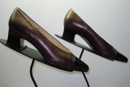 Women's ETIENNE AIGNER Classic Copper Leather Patent Cap Toe Pump Sz. 8.5M - $27.83