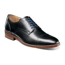 Florsheim Salerno Mens Shoes Cap Toe Oxford Black Smooth Leather 12160-001  - $115.00