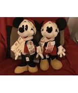 NWT SET OF Disney Stuff Animal Christmas Santa Mickey & Minnie Mouse wit... - $37.99