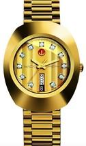 New Rado Diastar R12413493 Automatic Gold Plated Swiss Men's Wrist Watch . - $680.13
