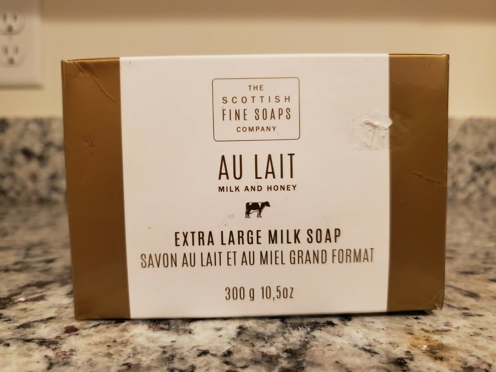 Primary image for Scottish Fine Soaps Company Au Lait Milk and Honey Extra Large 10.5 Oz Bar NEW