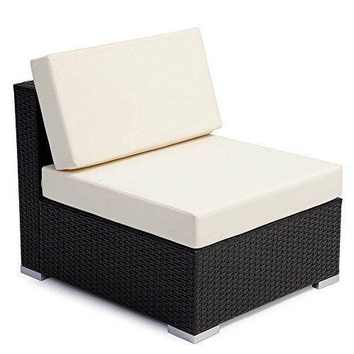 Contemporary Garden Wicker Sofa & Table Outdoor Furniture Set Luxury Corner Set image 5
