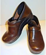 Dansko Brown Leather Slip On Comfort Clogs Women's 38 / 7.5 - 8 - $34.99
