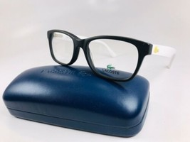 New KIDS LACOSTE L3604 001 Black & White Eyeglasses 49mm with Case - $69.25