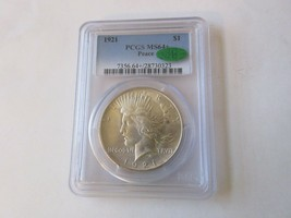 1921 Peace Dollar , MS64+ , PCGS/CAC - $1,495.00