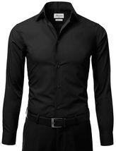 Berlioni Italy Men's Slim-Fit Premium French Convertible Cuff Solid Dress Shirt image 7