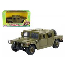 Humvee Military Cargo/Troop Carrier Green 1/24 Diecast Model Car by Moto... - $31.10