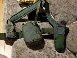 US ARMY Nylon Belt (L) w Canteen & Case & Knife holder - $39.59