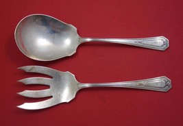 "Princess Mary by Wallace Sterling Silver Salad Serving Set 2pc AS 8 3/4"" - $246.05"