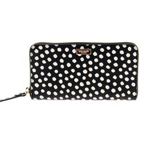 NWT KATE SPADE NEW YORK Newbury Lane NEDA Polka Dots Black White Zip Wal... - $116.82