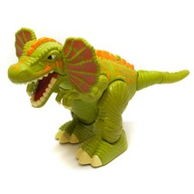 2006 Mattel Imaginext Surge Frilled Raptor Dinosaur Walking Roaring  - $9.87