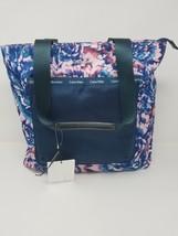 Calvin Klein Womens Floral Print Contrast Trim Tote Handbag - $98.00