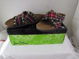 Nib Sam Edelman Arina Red Plaid Slide Sandals With Studs Msrp $120 - $35.99