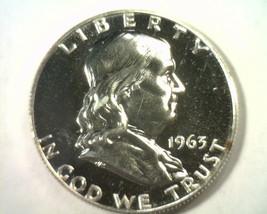 1963 FRANKLIN HALF DOLLAR GEM+ PROOF CAMEO GEM+ PR CAM NICE ORIGINAL COIN - $40.00