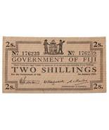 1942 Fiji 2 Shillings Emergency Issue Note in AU, P.50a - €130,92 EUR