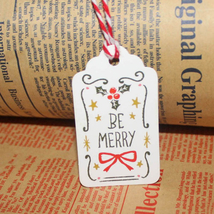 50 pcs Christmas Paper Tags Decoration - $5.95
