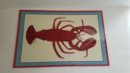 Soraya Jones laminated lobster place mats - $19.80