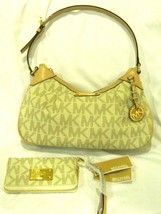Michael Kors Graystone Vanilla Satchel Purse and Matching Wallet-Brand New! - £188.40 GBP