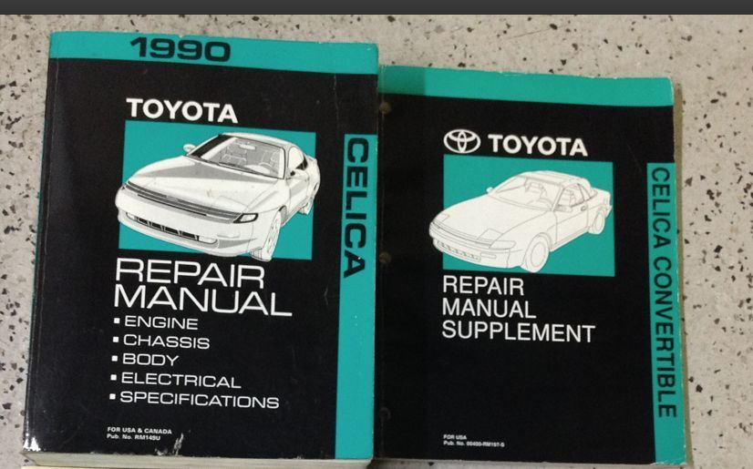 Primary image for 1990 Toyota Celica Service Repair Shop Manual Set W CONVERTIBLE SUPPLEMENT x