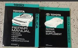 1990 Toyota Celica Service Repair Shop Manual Set W Convertible Supplement X - $197.99