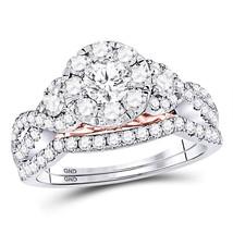 14kt White Gold Round Diamond Bridal Wedding Engagement Ring Band Set - $2,798.00